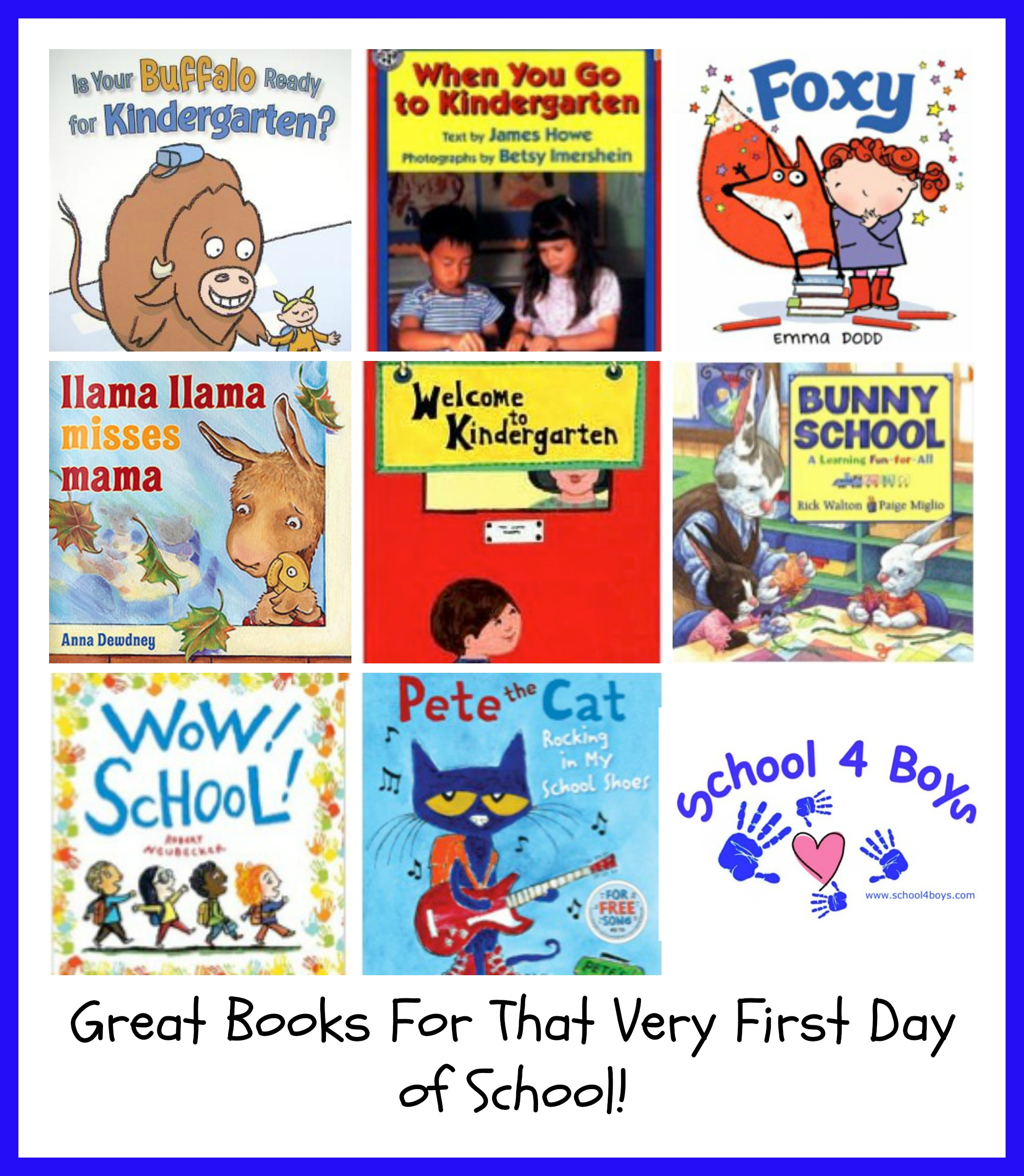 Book Covers Back To School : Great books to read when it is time start school for