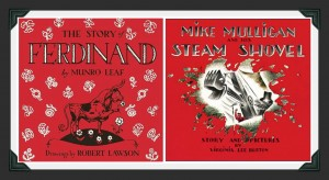 Ferdinand and Mike Mulligan collage