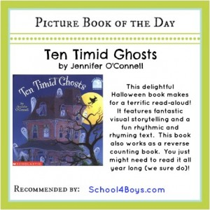 Picture book of the day - Ten Timid Ghosts