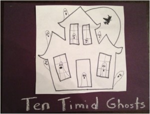 Ten Timid Ghosts - homemade book cover