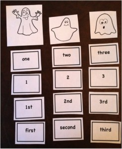 Ten timid ghosts - math activity pic 2