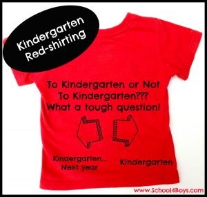 kindergarten readiness vs. redshirting