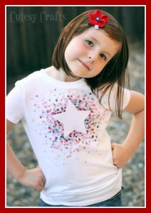 4th of July - cute t-shirt craft