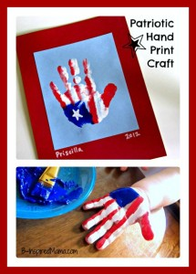 4th of July crafts - handprint flag painting