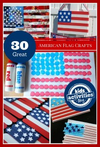 4th of July - American flag crafts for kids