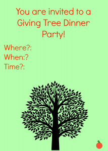 The Giving Tree Dinner party invitations