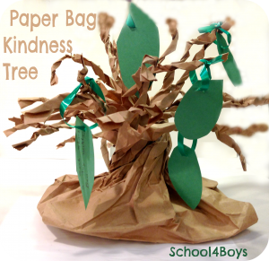 The Giving Tree - Paper Bag Kindness Tree Centerpiece