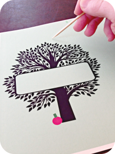 The Giving Tree Dinner Party - Make a pop-uo table card