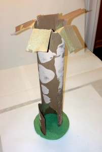 e Giving Tree Dinner Party - Recycled cardboard tube tree craft - Mr. Ellie Pooh paper