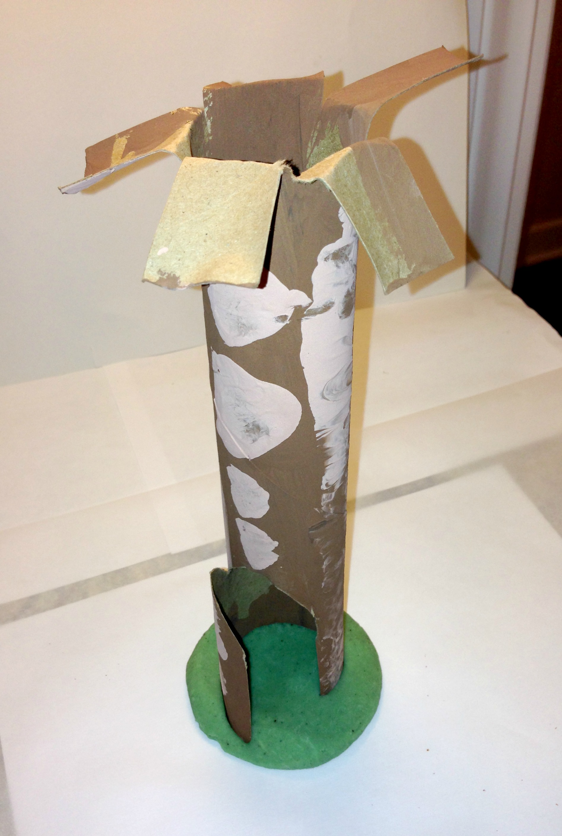 Make a paper towel tree craft for Paper towel cardboard tube crafts